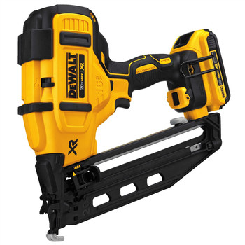 Factory Reconditioned Dewalt DCN660D1R 20V MAX 2.0 Ah Cordless Lithium-Ion 16 Gauge 2-1/2 in. 20 Degree Angled Finish Nailer Kit image number 1