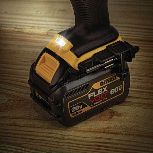 Dewalt DCD460T1 FlexVolt 60V MAX Lithium-Ion Variable Speed 1/2 in. Cordless Stud and Joist Drill Kit with (1) 6 Ah Battery image number 11