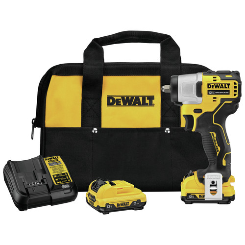 Dewalt DCF902F2 XTREME 12V MAX 2 Ah Brushless 3/8 in. Cordless Lithium-Ion Impact Wrench Kit image number 0