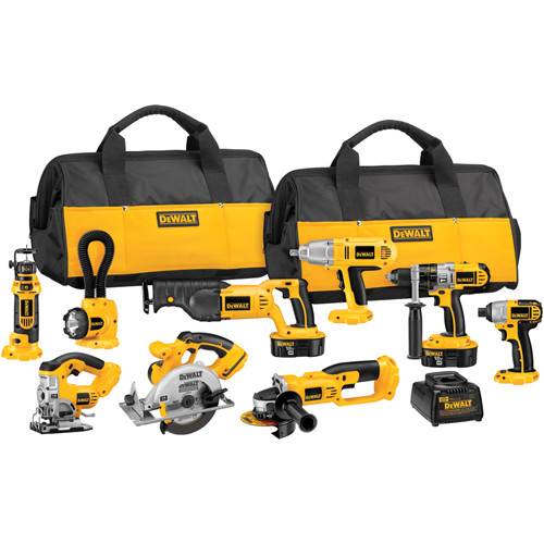 Factory Reconditioned Dewalt DCK955XR 18V XRP Cordless 9-Tool Combo Kit