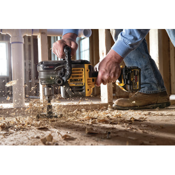 Dewalt DCD460T1 FlexVolt 60V MAX Lithium-Ion Variable Speed 1/2 in. Cordless Stud and Joist Drill Kit with (1) 6 Ah Battery image number 12