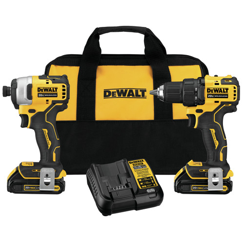 Factory Reconditioned Dewalt DCK278C2R ATOMIC 20V MAX 2-Tool Brushless Compact Combo Kit image number 0