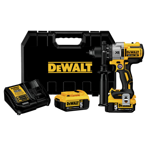 Dewalt DCD991P2 20V MAX XR 5.0 Ah Cordless Lithium-Ion Brushless 3-Speed 1/2 in. Drill Driver Kit