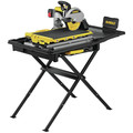 Dewalt D36000S 15 Amp 10 in. High Capacity Wet Tile Saw with Stand image number 2
