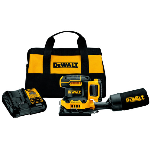 Dewalt DCW200D1 20V MAX XR Lithium-Ion Variable Speed 1/4 in. Sheet Cordless Sander Kit (2 Ah) image number 0