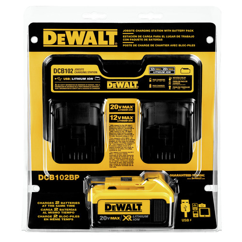 Dewalt DCB102BP 12V - 20V MAX Jobsite Charging Station with Battery Pack image number 0