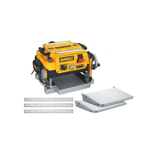 Dewalt DW735X 13 in. Two-Speed Thickness Planer with Support Tables and Extra Knives image number 0