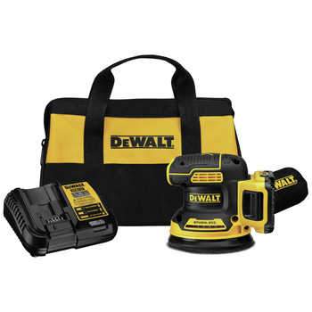 Dewalt DCW210D1 20V MAX XR Brushless Lithium-Ion Variable Speed 5 in. Cordless Random Orbital Sander Kit (2 Ah)