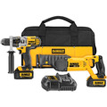Dewalt DCK292L2 20V MAX Cordless Lithium-Ion 1/2 in. Hammer Drill and Reciprocating Saw Combo Kit