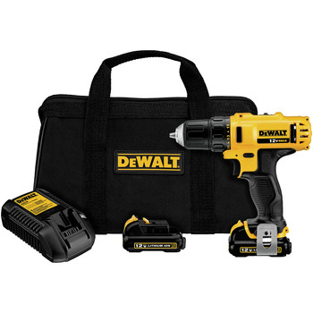 Factory Reconditioned Dewalt DCD710S2R 12V MAX Brushed Lithium-Ion Keyless Chuck 3/8 in. Cordless Drill Driver Kit (1.5 Ah)