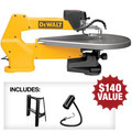 Dewalt DW788-BNDL 20 in. Variable Speed Scroll Saw with FREE Stand and Light