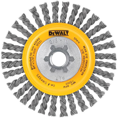 Dewalt DW4925 4 in. x 0.020 in. Carbon Stringer Wire Wheel