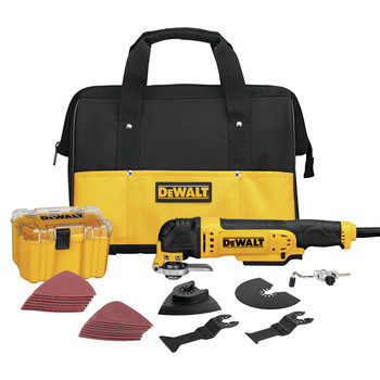 Dewalt DWE315K 3 Amp Oscillating Tool Kit with 29 Accessories