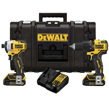 Dewalt DCKTS279C2 ATOMIC 20V MAX Brushless 1/2 in. Hammer Drill Driver / 1/4 in. Impact Driver Combo Kit with TOUGHSYSTEM