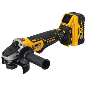 Dewalt DCG413R2 20V MAX XR Brushless 4.5 in. Paddle Switch Small Angle Grinder Kit with Kickback Brake image number 2