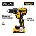 Dewalt DCD791D2 20V MAX XR Lithium-Ion Brushless Compact 1/2 in. Cordless Drill Driver Kit (2 Ah) image number 4