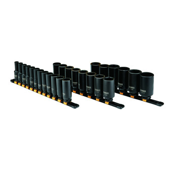 Dewalt DWMT19242 26 Piece 1/2 in Drive Deep Metric Impact Socket Set 6 PT