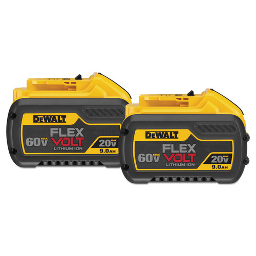 Dewalt DCB609-2 20V/60V MAX 9.0Ah Cordless Lithium-Ion FlexVolt Battery (2-Pack)