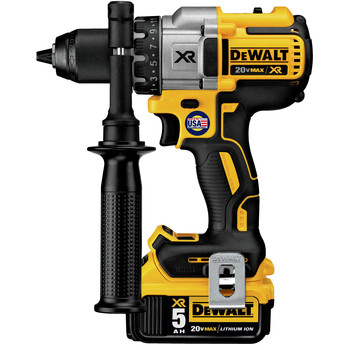 Dewalt DCD991P2 20V MAX XR Lithium-Ion Brushless 3-Speed 1/2 in. Cordless Drill Driver Kit (5 Ah) image number 2