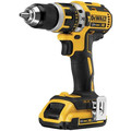 Factory Reconditioned Dewalt DCD795D2R 20V MAX XR Lithium-Ion Brushless Compact 1/2 in. Cordless Hammer Drill Kit (2 Ah) image number 1