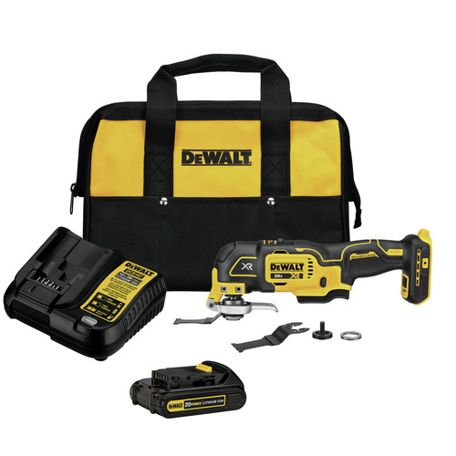 Dewalt DCS356C1 20V MAX XR Brushless Lithium-Ion Cordless Oscillating Multi-Tool Kit (1.5 Ah) image number 0
