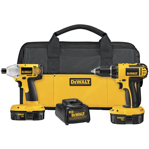 Factory Reconditioned Dewalt DC720IAR 18V Compact Cordless 2-Tool Combo Kit