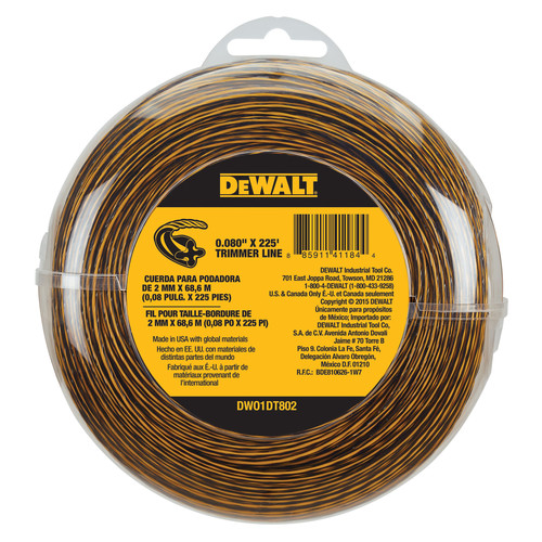 Dewalt DWO1DT802 0.080 in. x 225 ft. String Trimmer Line image number 0