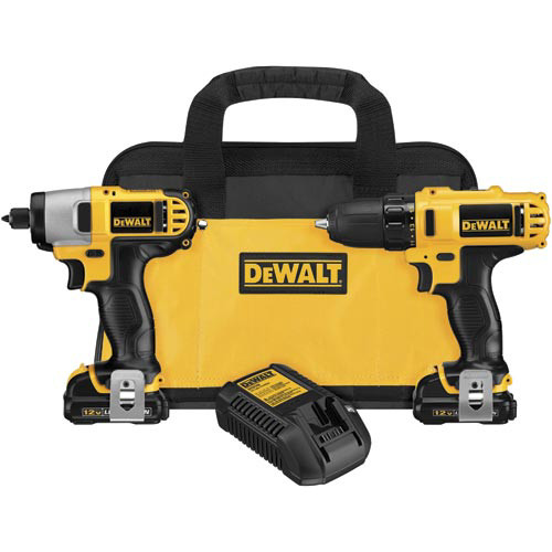 Factory Reconditioned Dewalt DCK211S2R 12V MAX 1.5 Ah Cordless Lithium-Ion 3/8 in. Drill Driver and Impact Driver Combo Kit image number 0