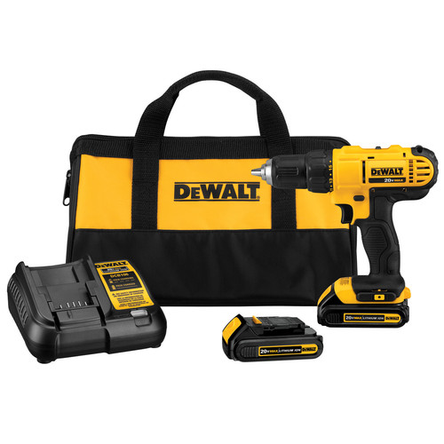 Dewalt DCD771C2 20V MAX Lithium-Ion Compact 1/2 in. Cordless Drill Driver Kit (1.3 Ah) image number 0