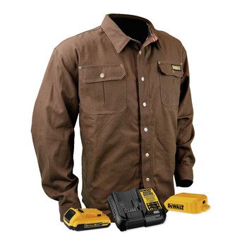 Dewalt DCHJ081TD1-M 20V MAX Li-Ion Heavy Duty Shirt Heated Jacket Kit - Medium