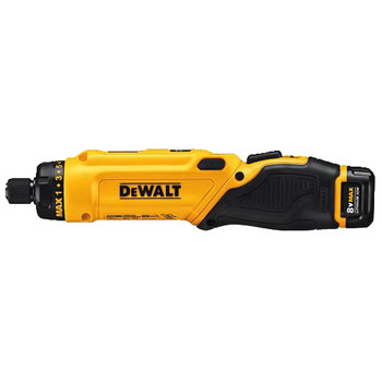 Factory Reconditioned Dewalt DCF680N2R 8V MAX Cordless Lithium-Ion Gyroscopic Screwdriver Kit with 2 Compact Batteries image number 2