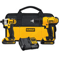 Factory Reconditioned Dewalt DCK240C2R 20V MAX Cordless Lithium-Ion Drill Driver and Impact Driver Combo Kit image number 0
