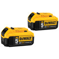 Dewalt DCB205-2 20V MAX 5.0 Ah XR Premium Lithium-Ion Battery (2 Pc)