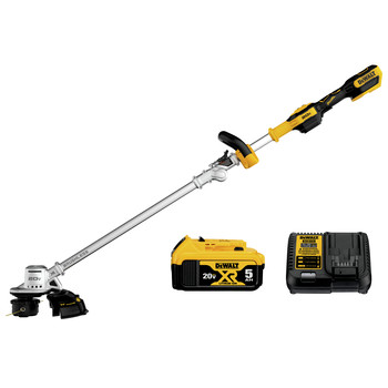 Dewalt DCST922P1 20V MAX Lithium-Ion Cordless 14 in. Folding String Trimmer Kit (5 Ah)
