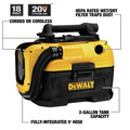 Dewalt DCV581H 20V MAX Cordless/Corded Lithium-Ion Wet/Dry Vacuum (Tool Only) image number 7