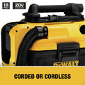 Dewalt DCV581H 20V MAX Cordless/Corded Lithium-Ion Wet/Dry Vacuum (Tool Only) image number 8