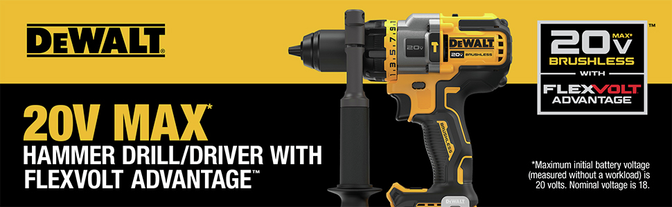 20V MAX Hammer Drill/Driver with FLEXVOLT ADVANTAGE