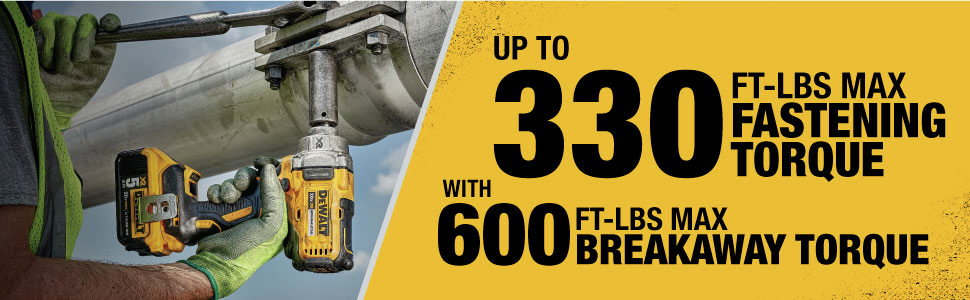 Up to 330 Ft-Lbs Max Fastening Torque