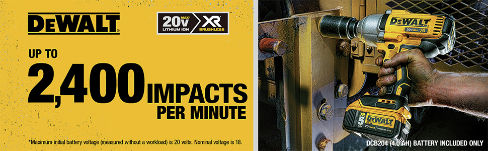 Up To 2400 Impacts Per Minute