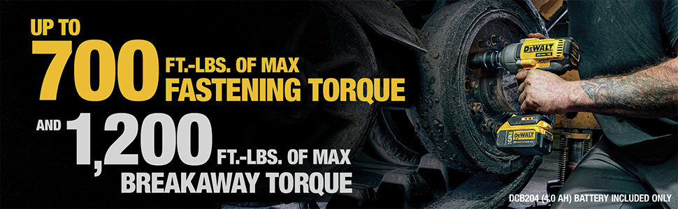 Up To 700 ft-lbs. Of Max Fastening Torque