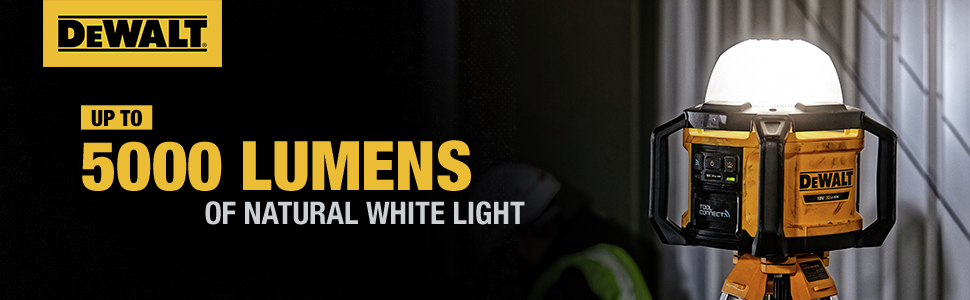 Up to 5000 Lumens of Natural White Light