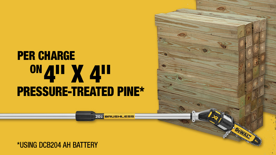 Per Charge On 4 in. X 4 in. Pressure-Treated Pine