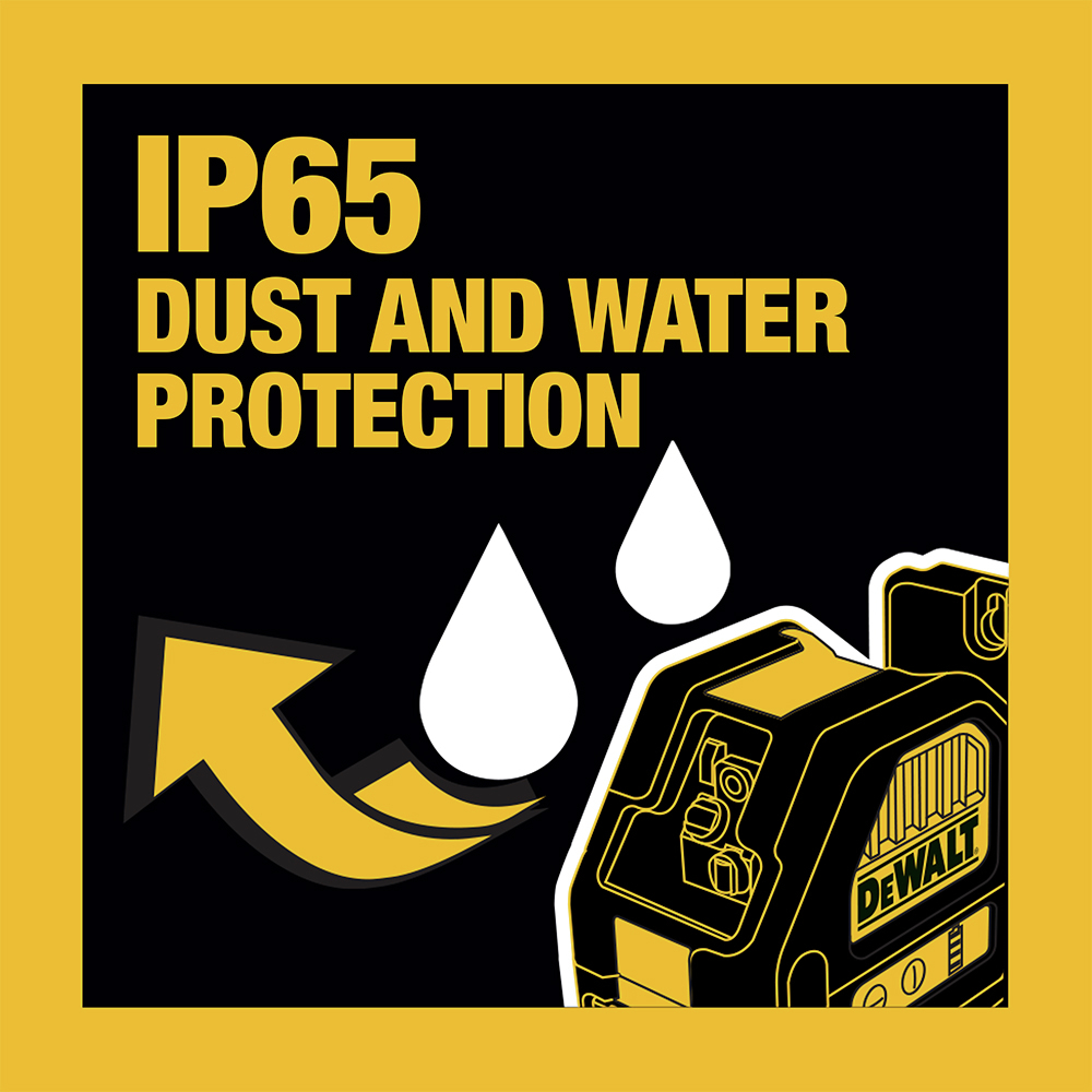 IP65 Dust and Water Protection