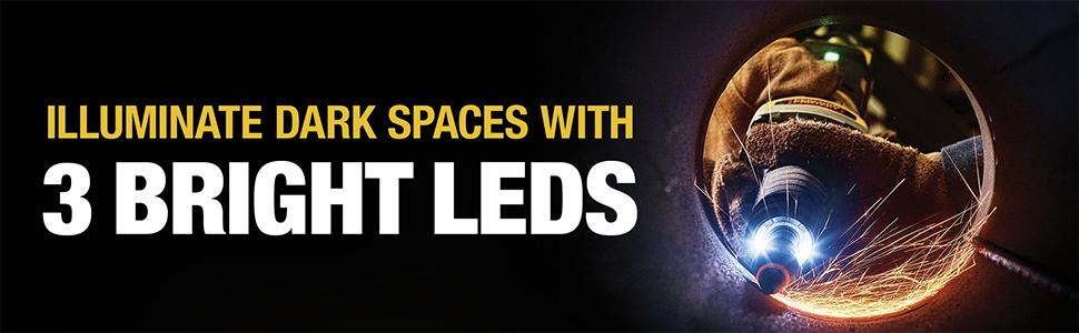 Illuminate Dark Spaces With 3 Bright LED's
