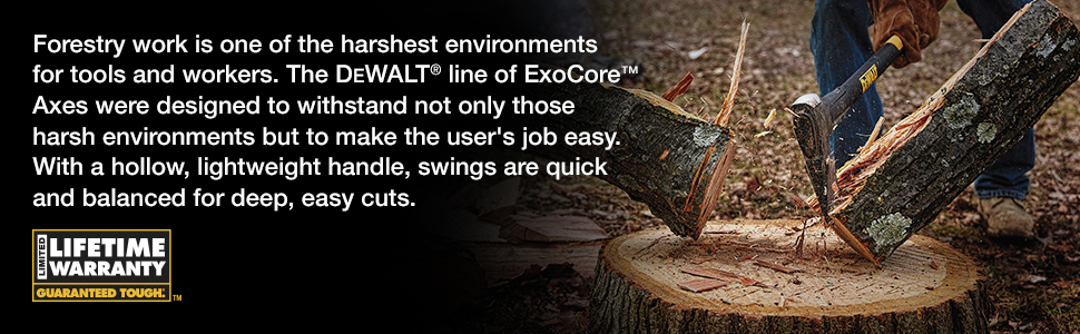 Foresty work is one of the harshest environments for tools and workers