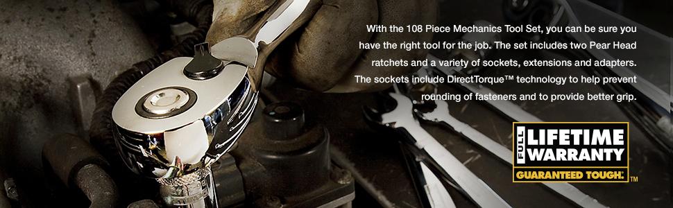 With the 108-Piece Mechanics Tool Set