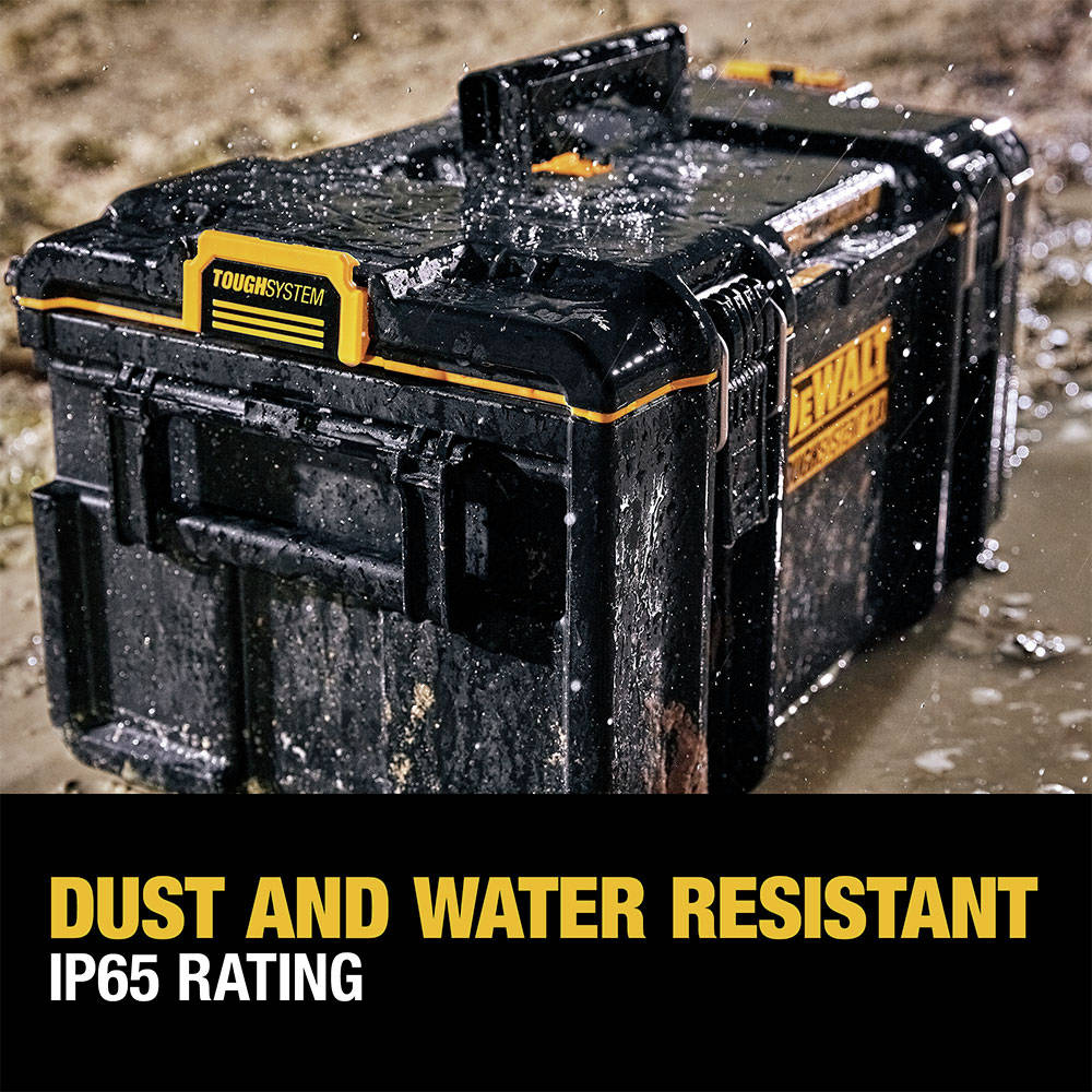 IP65 rated for dust and water resistance