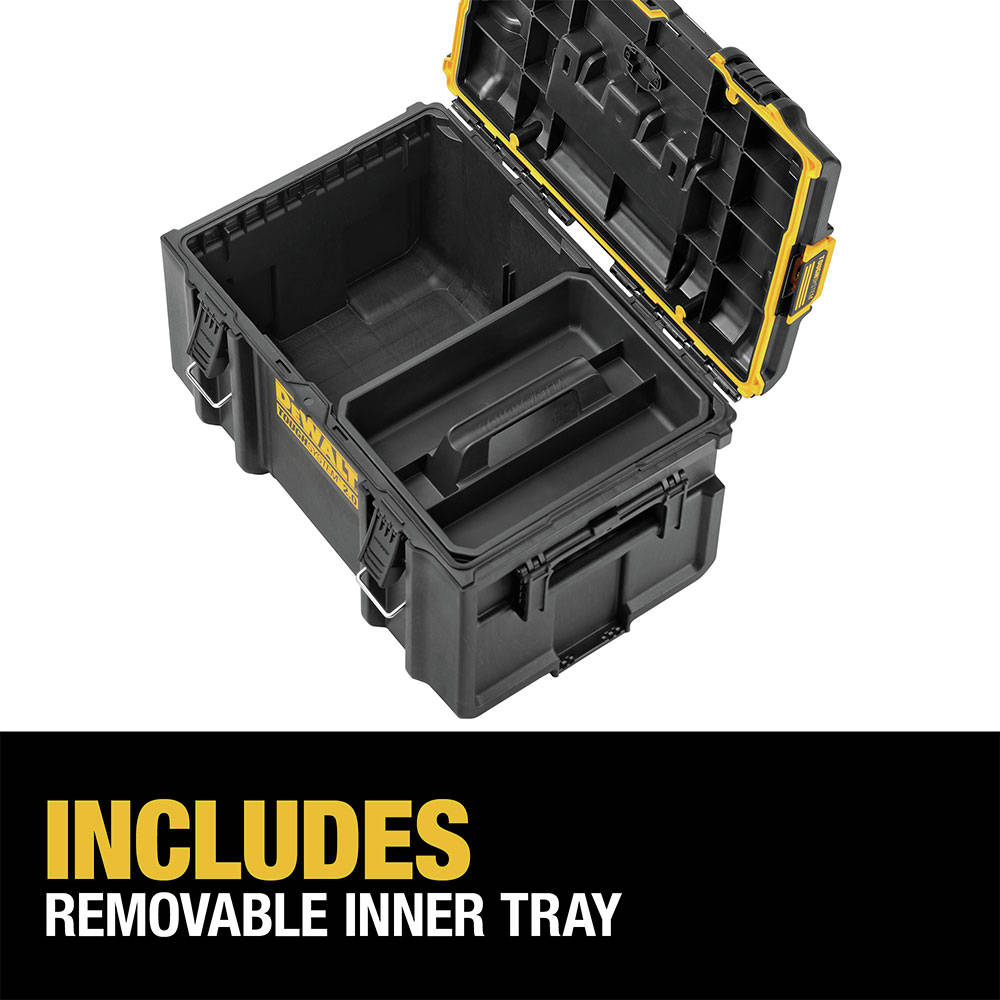 Includes removable inner tray for optimal organization