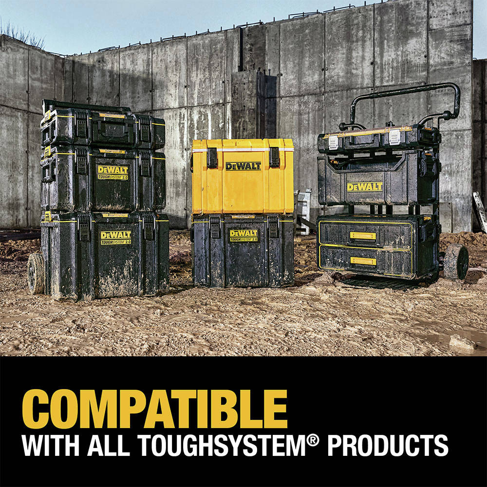 The ToughSystem 2.0 Large Toolbox is backwards compatible with any ToughSystem product