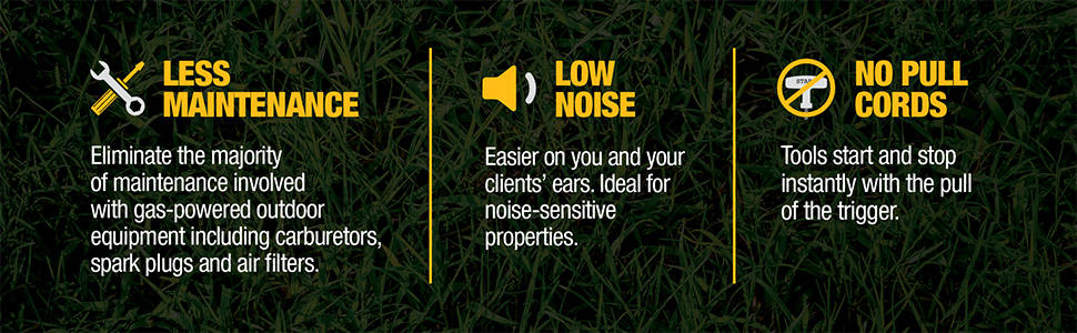 Less Maintenance, Low Noise, No Pull Cords